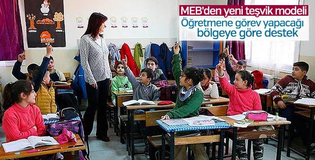 Öğretmenlere gideceği bölgeye göre teşvik