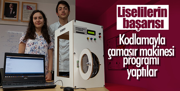 Kodlama eğitiminde çamaşır makinesi programı
