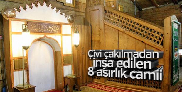 Çivi çakılmadan yapılan Göğceli Camii hala ayakta