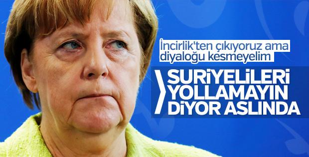 Angela Merkel'den İncirlik açıklaması
