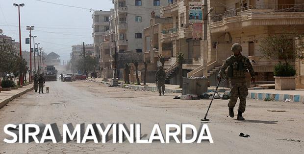 Afrin'de mayın temizliği başladı