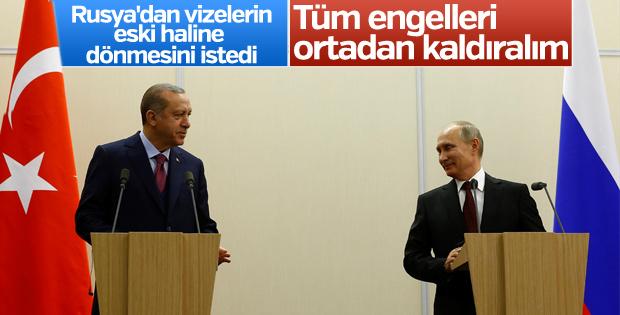 Erdoğan: Rusya ile tüm engelleri kaldırmalıyız