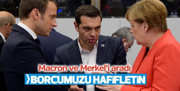 Çipras'tan Merkel ve Macron'a telefon