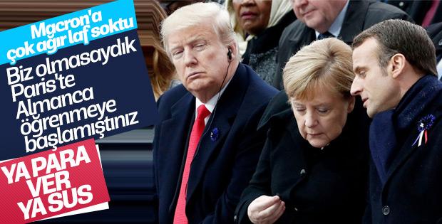 Trump'tan Macron'a 'Almanca' mesajı