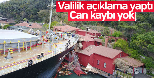 Valilik gemi kazasının nedenini açıkladı