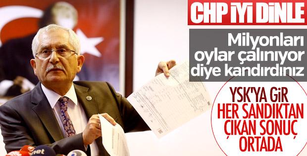 YSK Başkanı seçim sonucunu açıkladı