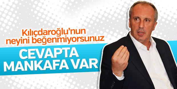 Muharrem İnce, Kılıçdaroğlu'nu eleştirdi