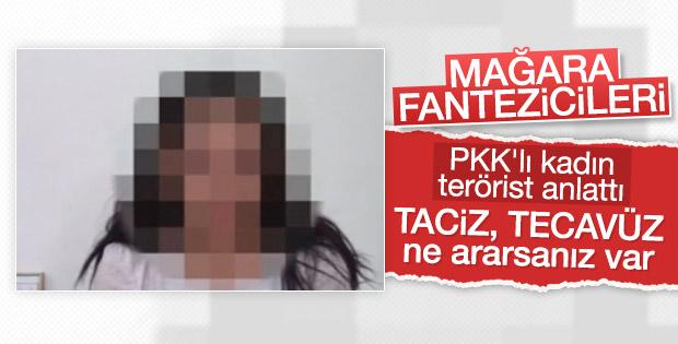 Teslim olan PKK'lı terörist tacize uğradığını anlattı