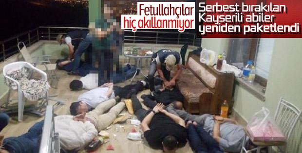 Kayseri'de 10 FETÖ'cü toplantı halinde basıldı