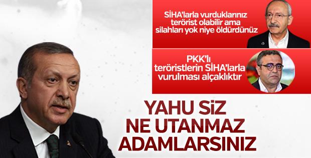 Erdoğan'dan CHP'ye SİHA tepkisi
