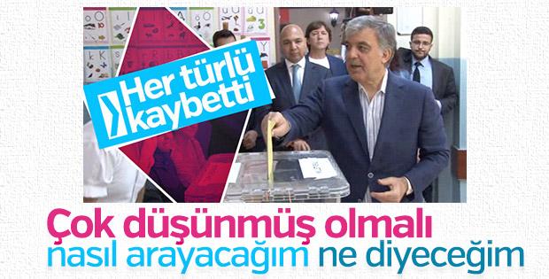 Abdullah Gül'den Erdoğan'a tebrik