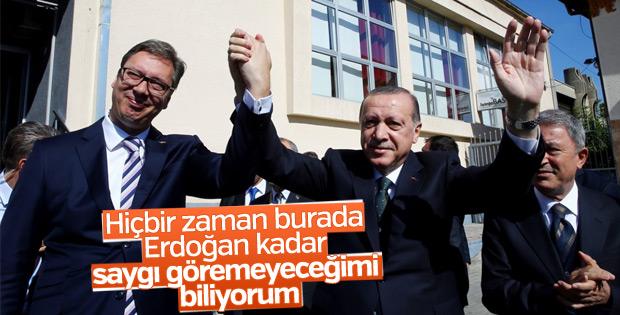 Sırbistan Cumhurbaşkanı'ndan Erdoğan'a övgü