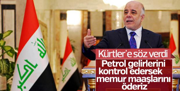 İbadi'den Kürtler'e maaş sözü