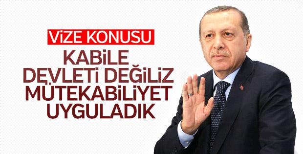 Erdoğan'dan ABD'yle vize krizine ilk yorum