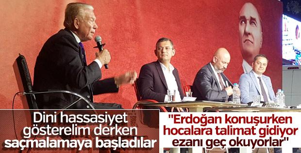 Özgür Özel'e göre imamlar Erdoğan için ezanı geç okuyor