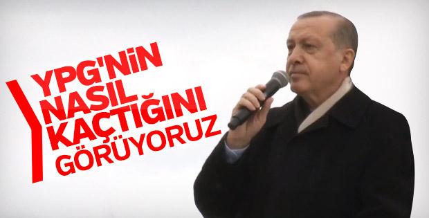 Cumhurbaşkanı Erdoğan: Teröristler kaçıyor