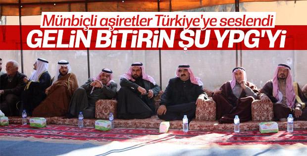 Münbiçli aşiretlerden Türkiye'ye destek mesajı