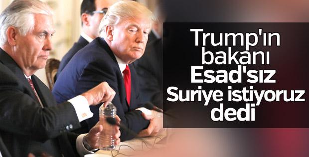 ABD: Esad'sız bir Suriye istiyoruz