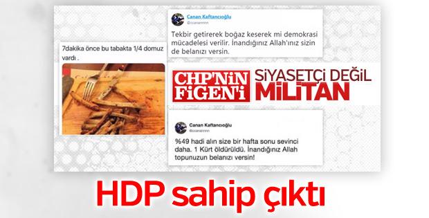 HDP, Canan Kaftancıoğlu'nun arkasında