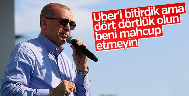 Erdoğan'dan taksicilere çağrı
