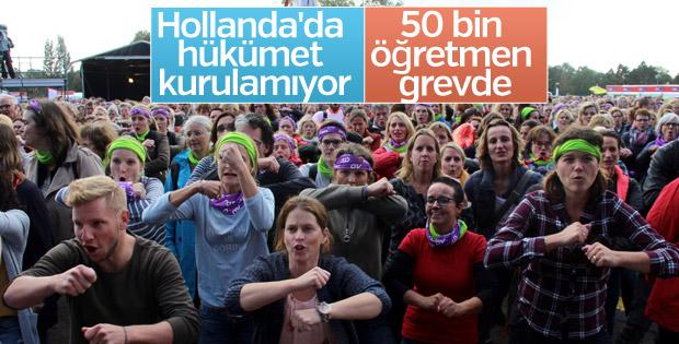 Hollanda'da öğretmenler grevde