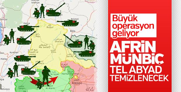 Erdoğan'dan Afrin operasyonu sinyali