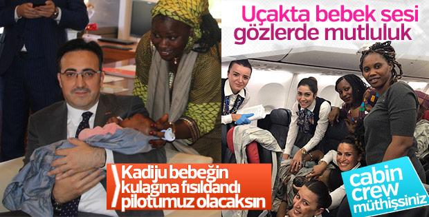 Kadiju bebek Türkiye'ye geldi