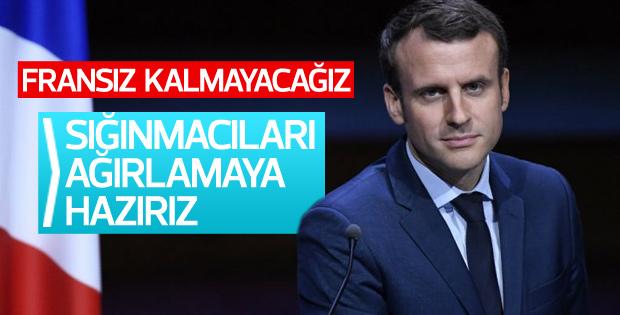 Macron sığınmacı krizine değindi