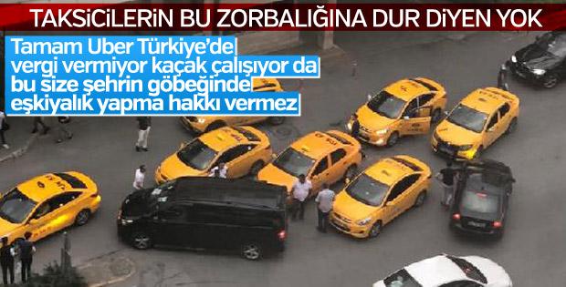 Taksicilerden UBER sürücüsüne tehdit iddiası