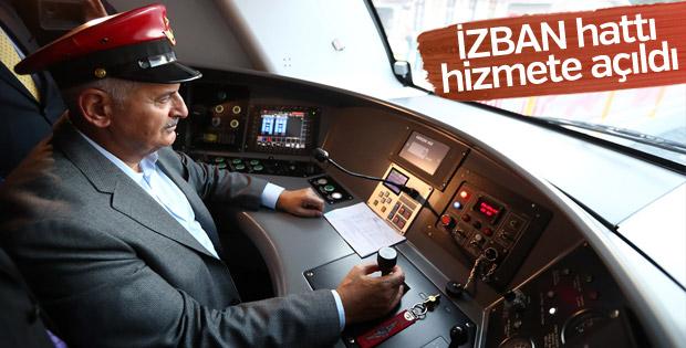 Başbakan İZBAN hattını açtı
