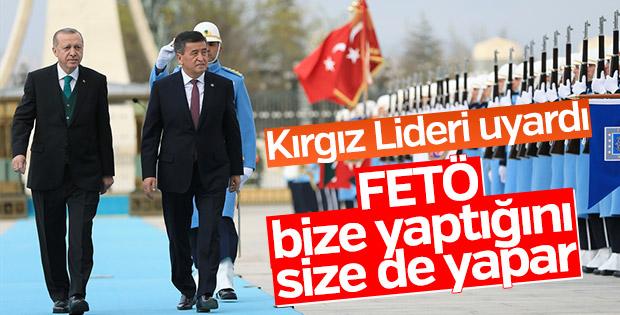 Erdoğan'dan Kırgız Lidere FETÖ uyarısı