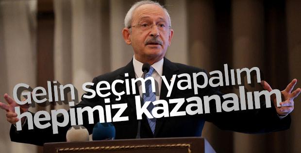 Kılıçdaroğlu erken seçim çağrısını yineledi