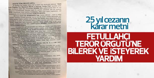 Enis Berberoğlu'nun duruşma tutanağı