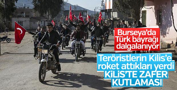 Kilis'te Türk bayraklı Burseya kutlaması