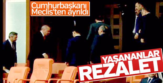Erdoğan, TBMM'deki tartışmalara tepki gösterdi