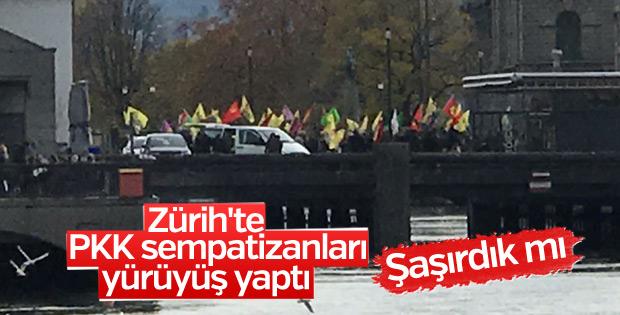 PKK yandaşlarından Zürih'te yürüyüş