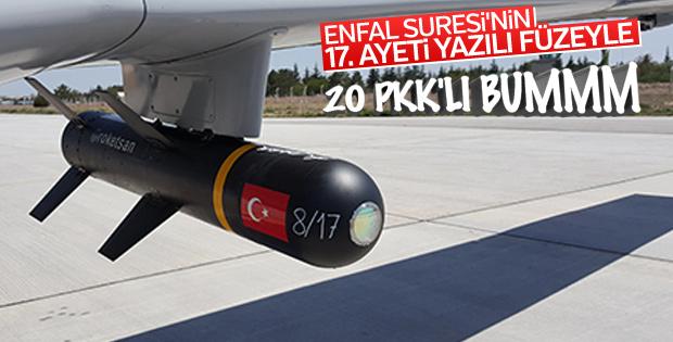 ATAK helikopterinden 20 PKK'lının öldürüldüğü anlar