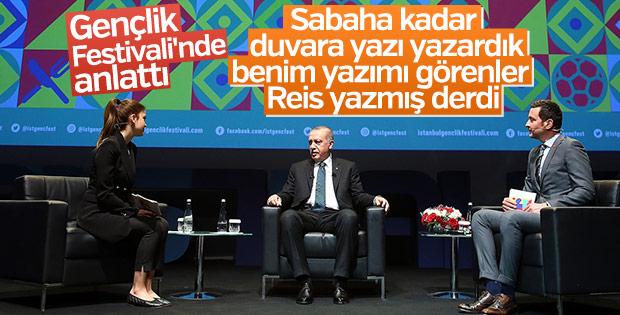 Erdoğan, Gençlik Festivali'nde konuştu