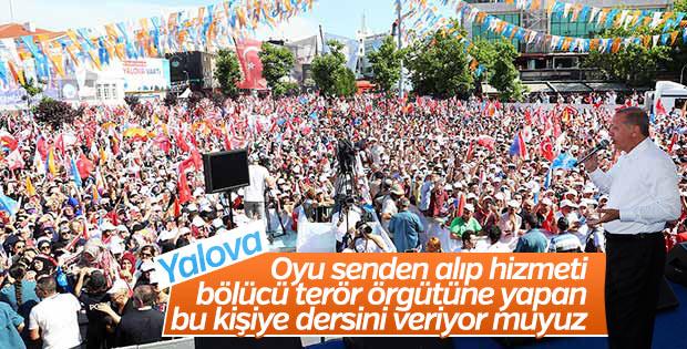 Erdoğan Yalova'da konuştu