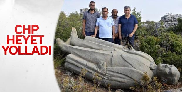 CHP ormanlık alana atılan Atatürk heykelini araştırıyor