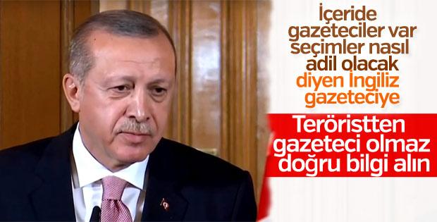 Erdoğan'dan gazeteciye tepki: Haber kaynaklarınız yanlış