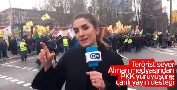 Alman medyasından PKK propagandasına canlı destek