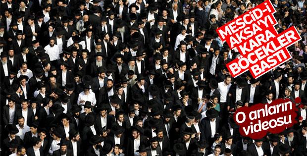 Fanatik Yahudiler polis eşliğinde Mescid-i Aksa'yı bastı