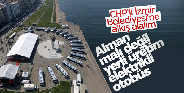 İzmir'in yerli üretim elektrikli otobüsleri