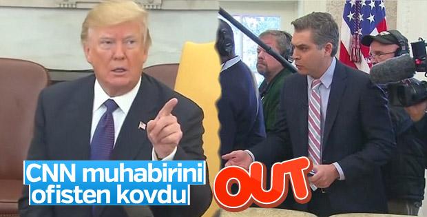 Trump, CNN muhabirini toplantıdan kovdu
