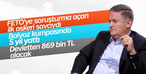 Kumpasa uğrayan albay Zeki Üçok'a 869 bin TL tazminat