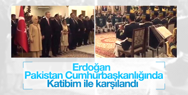 Cumhurbaşkanı Erdoğan'a Pakistan'da sürpriz karşılama