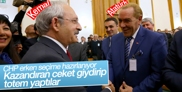 Ekose ceketli Atatürk CHP'nin seçim totemi mi