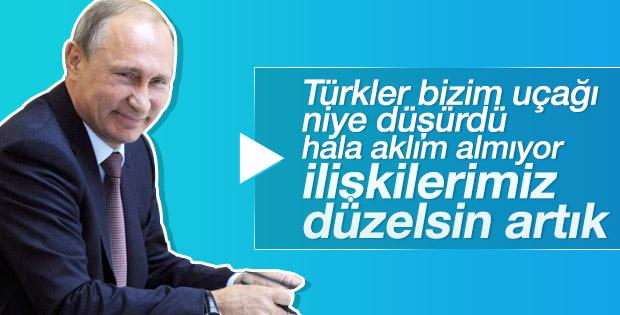 Vladimir Putin'den Türkiye mesajı