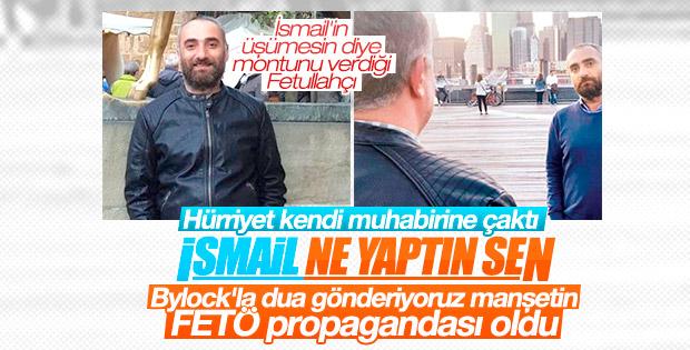 İsmail Saymaz'ın manşeti FETÖ propagandası oldu